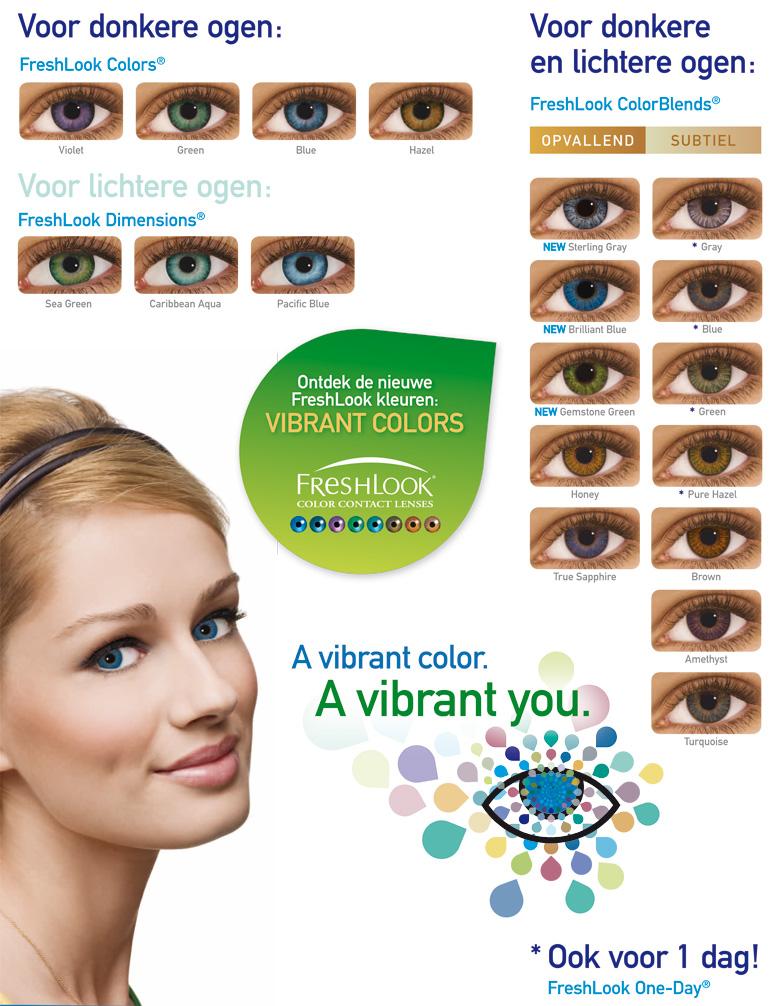 freshlook kleuren voorbeelden